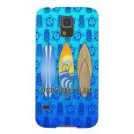 Llevado practicar surf Tiki azul Carcasa Para Galaxy S5