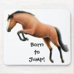 Llevado saltar el caballo excelente Mousepad