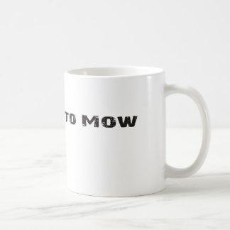 Llevado segar la taza de café