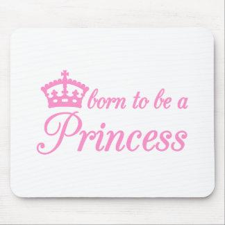 Llevado ser una princesa, diseño del texto con la  alfombrilla de ratón