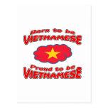 Llevado ser vietnamita, orgulloso ser vietnamita postal