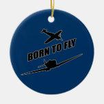 Llevado volar adorno de navidad