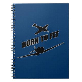 Llevado volar cuaderno