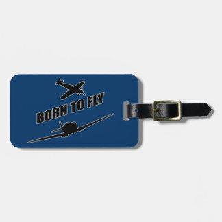 Llevado volar etiqueta de equipaje