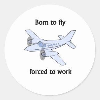 Llevado volar forzado para trabajar etiquetas redondas