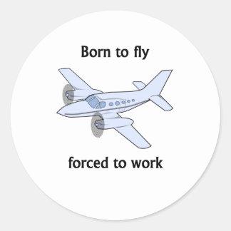 Llevado volar forzado para trabajar pegatina