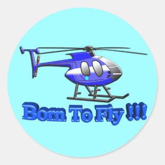¡Llevado volar!!! Helicóptero Pegatina