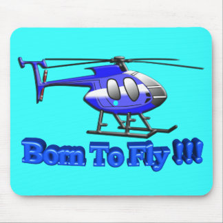 ¡Llevado volar!!! Helicóptero Tapete De Raton