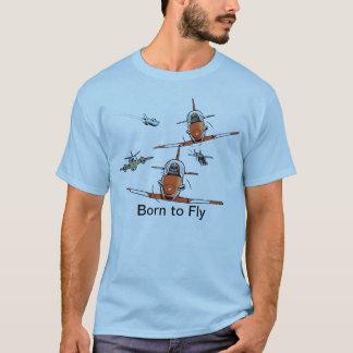 Llevado volar la camiseta del aviador