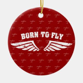 Llevado volar las alas ornaments para arbol de navidad