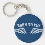 Llevado volar las alas llavero personalizado