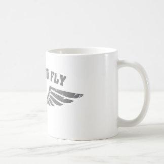 Llevado volar las alas tazas de café