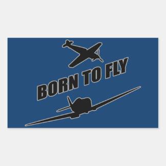 Llevado volar pegatina rectangular
