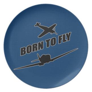 Llevado volar plato de cena
