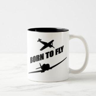 Llevado volar taza de café