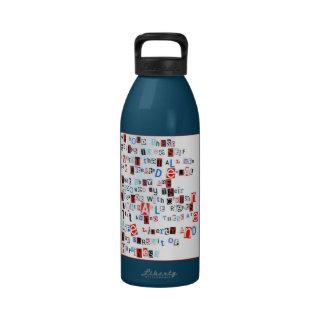 Llevamos a cabo estas verdades botella de agua