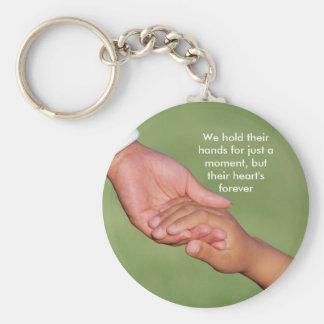 Llevamos a cabo sus manos por apenas un momento,… llavero personalizado