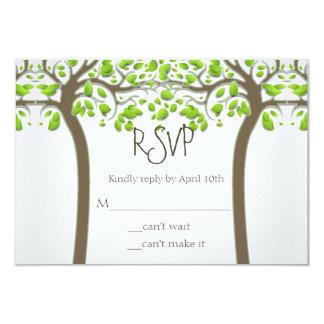 """Llevando a cabo el amor Eco rústico de los árboles Invitación 3.5"""" X 5"""""""