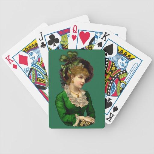 Llevar el verde el el día de St Patrick Baraja Cartas De Poker