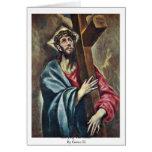 Llevar la cruz por el EL de Greco Felicitación