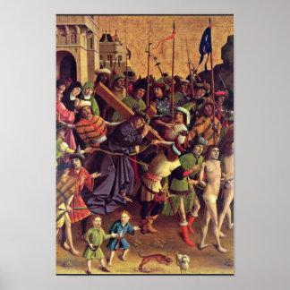 Llevar la cruz por el paso de Meister Der Póster