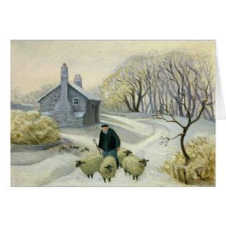 Llevar las ovejas tarjeta de felicitación