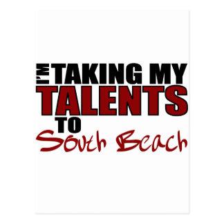 Llevar mis talentos la playa del sur tarjeta postal