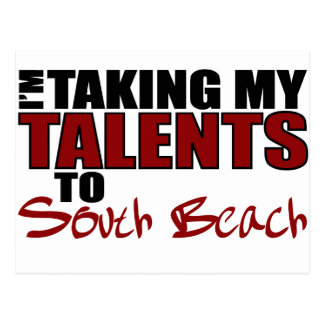 Llevar mis talentos la playa del sur tarjetas postales