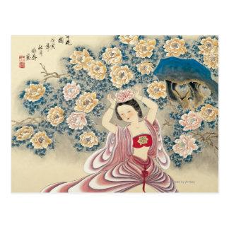 Llevar una flor en la cabeza tarjetas postales