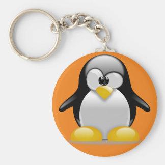 llevarclave Tux manco Linux Llavero Redondo Tipo Pin