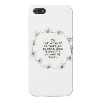 Llevaría bastante las flores en mi pelo que iPhone 5 carcasas