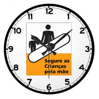 Lleve a cabo su muestra de los niños, el Brasil Reloj Redondo Grande