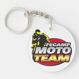 Lleve clave Fécamp Moto Equipo Llavero Redondo Acrílico A Una Cara