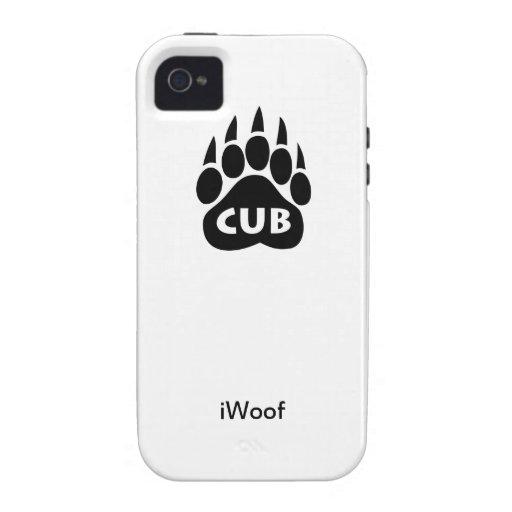 """Lleve el caso del iPhone 4/4S del iWoof de """"Cub"""" Case-Mate iPhone 4 Fundas"""