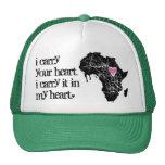 Lleve el corazón de África Gorras