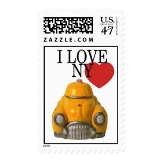 Lleve en taxi el amor NY de I o el sello de NYC