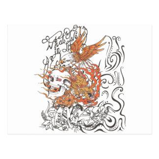 lleve en taxi el gráfico del tatuaje del águila postal
