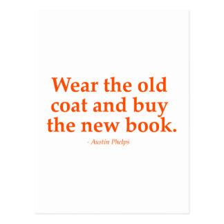 Lleve la capa vieja y compre el nuevo libro postal