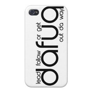 Lleve siguen o salen la manera de Dafuq DA. caso d iPhone 4 Carcasa