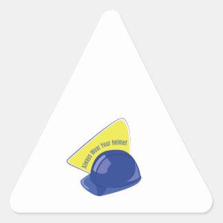 Lleve su casco pegatina triangular