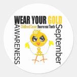 Lleve su mes de la conciencia del cáncer de la niñ etiquetas