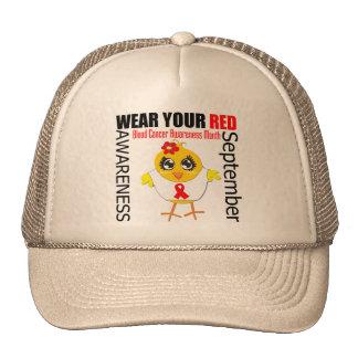 Lleve su mes rojo de la conciencia del cáncer de s gorro de camionero
