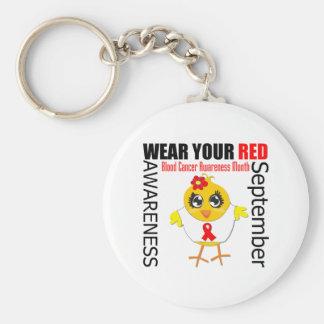 Lleve su mes rojo de la conciencia del cáncer de s llavero redondo tipo pin