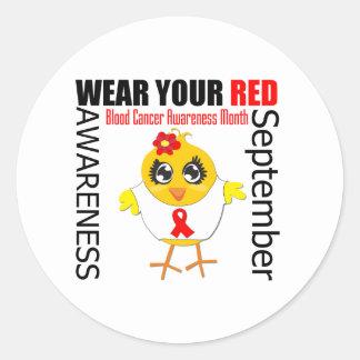 Lleve su mes rojo de la conciencia del cáncer de s pegatinas