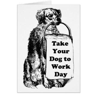 Lleve su perro el día del trabajo - bosquejo del p