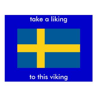 lleve tener gusto, este vikingo tarjetas postales