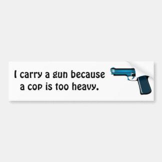 Lleve un arma pegatina de parachoque