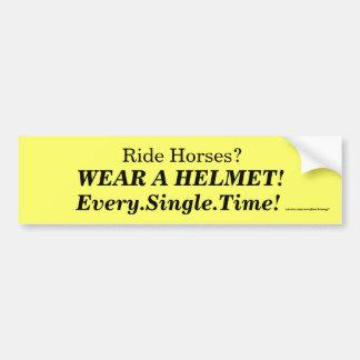 ¡Lleve un casco Pegatina De Parachoque