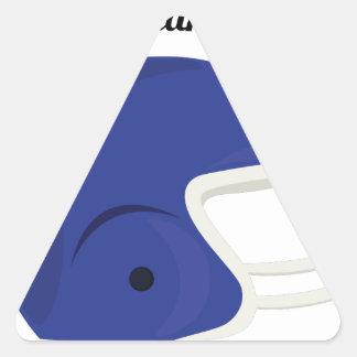 Lleve un casco pegatina triangular