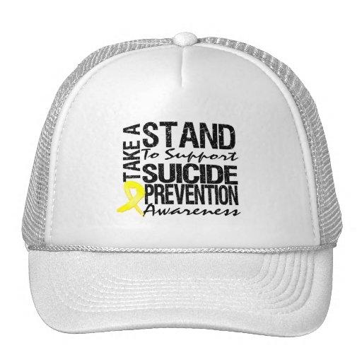 Lleve un soporte la prevención del suicidio de la  gorras de camionero